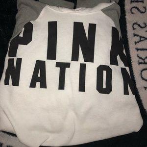 NWOT Pink Nation Crop Hoodie
